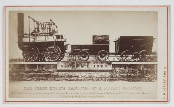 Herbert Henry Vorley, The First Engine Employed on a Public Railway, circa 1875, West Coast. Gift of Mrs E W Gibbs, 1933. Te Papa