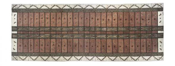 Ngatu Pepa [Vilene Tapa], 03.1996, Upper Hutt. Ilo Me'a Fo'ou (New Creations) - Tongan Womans Group. Purchased 1997 with New Zealand Lottery Grants Board Funds. Te Papa
