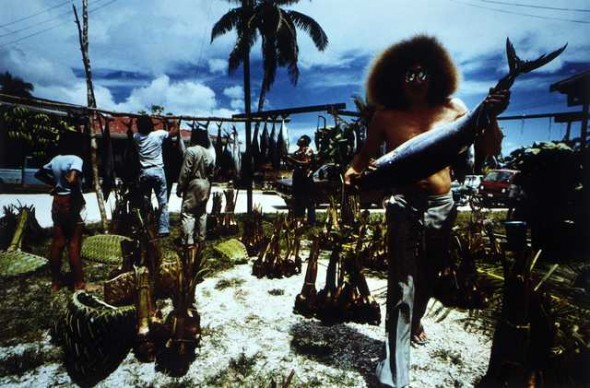 Alofi, Niue. Food division after an Earpiercing Ceremony 1982. From the series: Polynesia Here and There