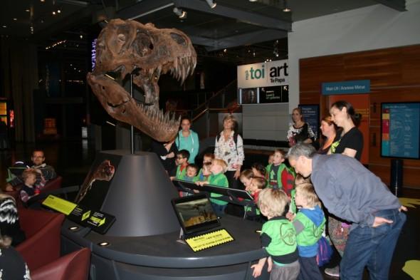 It's a T.rex head! Its got big sharp teeth! Photographer: Imagine Childcare, © Imagine Childcare