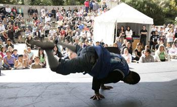 Hip hop battle at the Hip Hop Hut