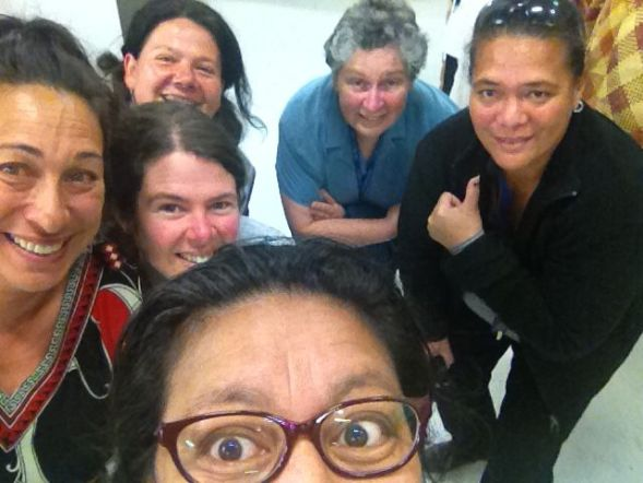 Staff from Ngā Taonga Sound and Vision The New Zealand Archive of Film, Television and Sound
