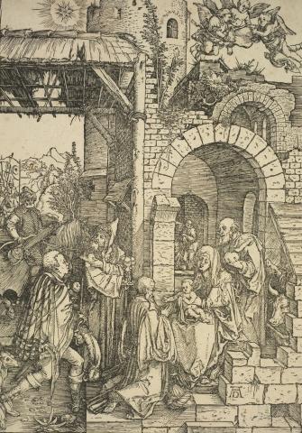 Albrecht Dürer, The Life of the Virgin: The Adoration of the Magi, about 1501-1503, Te Papa
