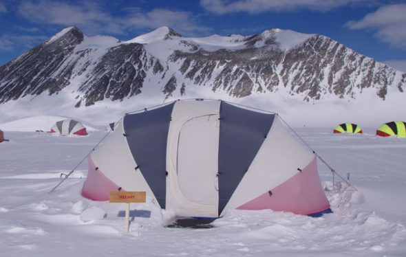 The guest tents were named after Antarctic explorers - and one had a strong New Zealand connection. Image: Colin Miskelly