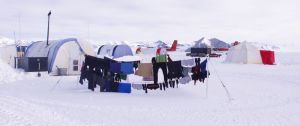 Sublime drying conditions. The clothesline at Union Glacier. Image: Colin Miskelly