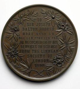 Hooker medal reverse