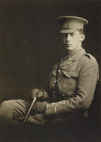 Lieutenant Spencer Westmacott, 1914. Photographer unknown, courtesy of Yvonne Riddiford
