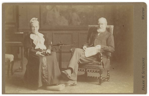 Edward and Sarah Corner, Frank Sutcliffe (UK), 1901, cabinet card, courtesy of Ann McDonald.