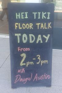 Sign outside MTG, Napier. Photo by D. Austin 8/3/15