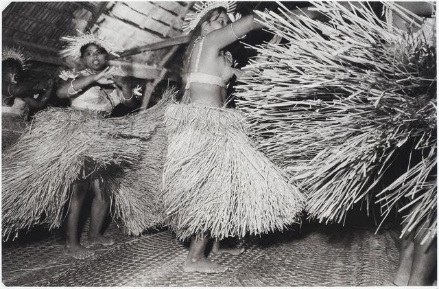 Tony Whincup, 'Dance - te buki', Abatao village, North Tarawa, Kiribati, 1999. Gelatin silver print, O.033042, Te Papa.