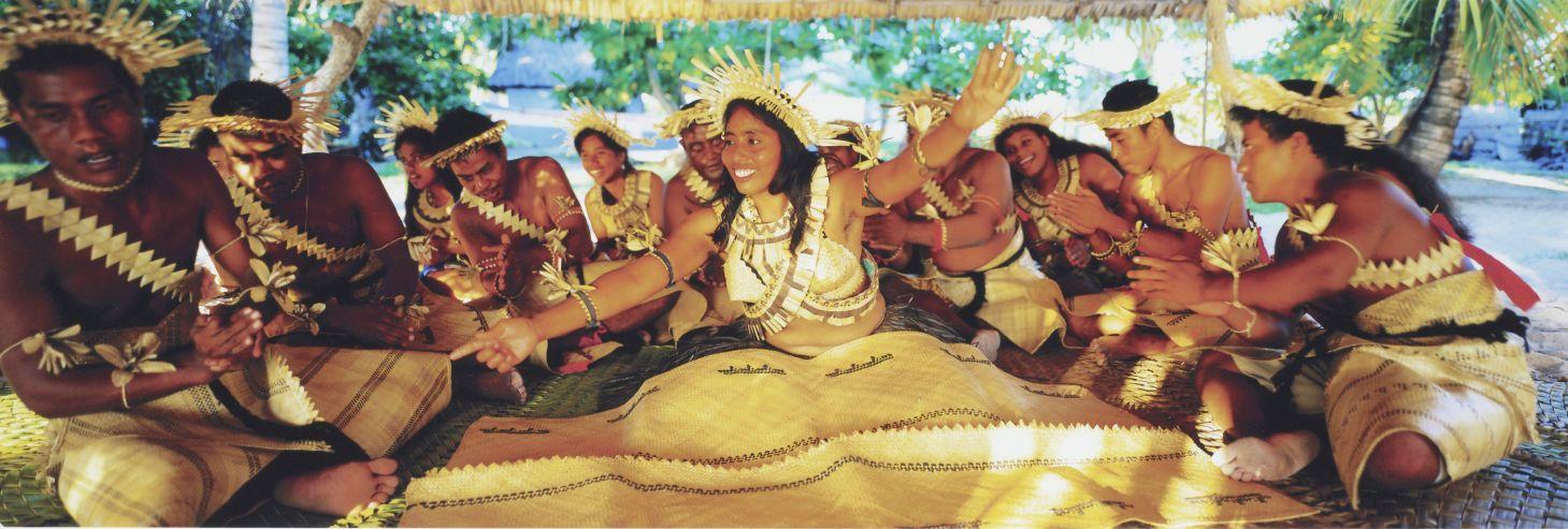 Tony Whincup, 'Dance: Te bino', Abatao village, North Tarawa, Kiribati, 1999. Chromogenic print, O.033045, Te Papa.
