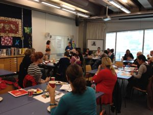 Teachers stepping into landscapes and going on imaginative journeys