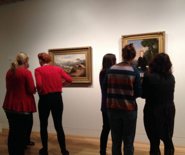 Teachers participating in visual language activity: step into a painting. Photo Helen Lloyd © Te Papa.