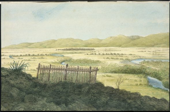 A-329-014 Grave at Wairau by Charles Emilius Gold 1845