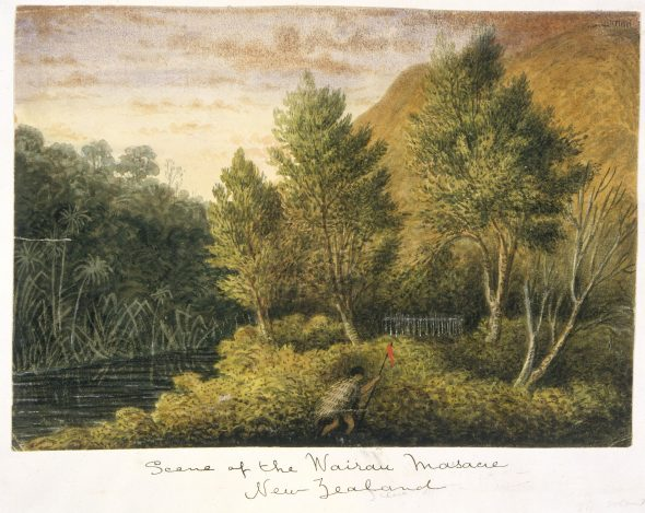 [Gold, Charles Emilius] Scene of the Wairau Massacre, New Zealand April 1851