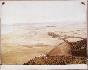 NON-ATL-P-0078 Hills above Tuamarina by Francis Dillon bell