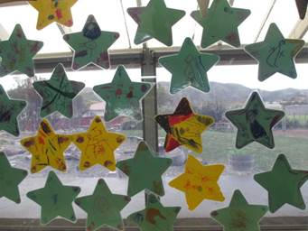 Pencarrow Kindergarten's star display, Photographer: Debbie Henderson, © Pencarrow Kindergarten