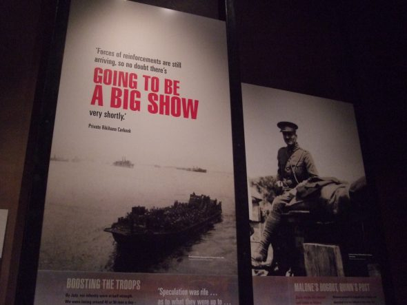 Wall text in the 'Stalemate' section of Gallipoli: The scale of our war. Photo by Kirstie Ross
