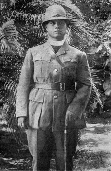 Hēnare Wainohu, chaplain of the Native Contingent, World War 1