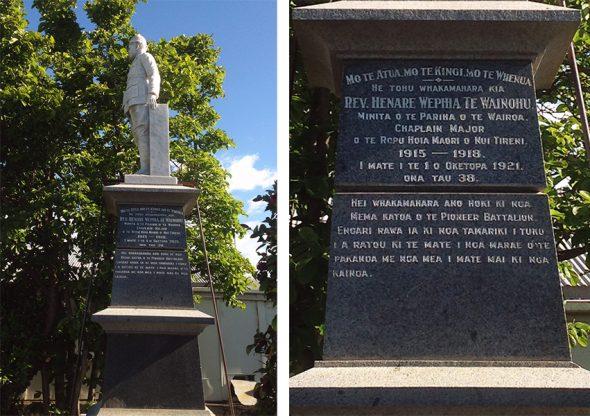 Hēnare Wainohu Memorial in Wairoa, corner of Ruataniwha Road and Carroll Street.