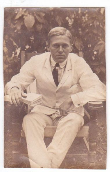 Colin Warden, about 1910, photographer unknown. Courtesy of Jennifer Pearson and the Perkins family.