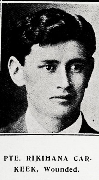 Rikihana Carkeek. Taken from the supplement to the Auckland Weekly News 30 September 1915 p045
