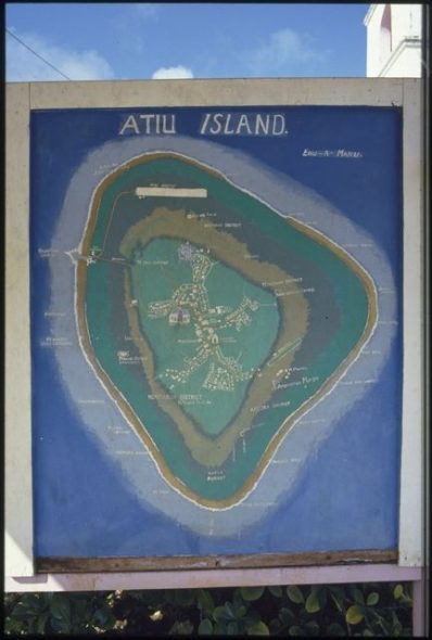 Map of Atiu Island, circa 1992, Cook Islands, by John Daley. Gift of John Daley, 2012. © Te Papa. Te Papa (CT.063324)