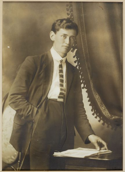 Rikihana Carkeek as a young man, pre-war, probably for his graduation from Te Aute College. Image courtesy of the Carkeek Whānau