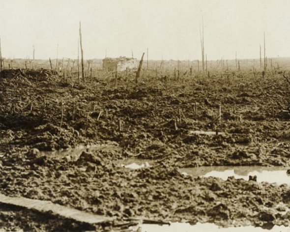 Broodseinde Ridge, in the Ypres Section, in Belgium, on October 4th, 1917.