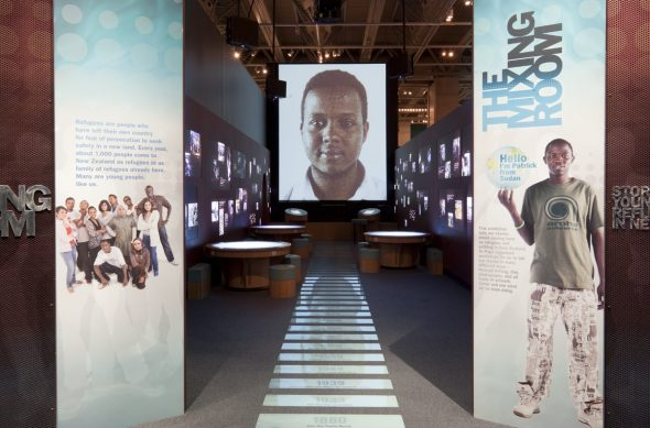 Entranceway to The Mixing Room exhibition at Te Papa