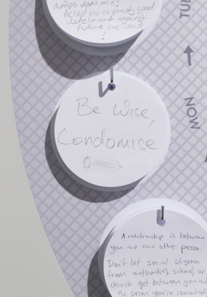 Visitors comments in Te Papa's Contraception exhibition