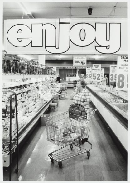 Supermarket, Devonport, Auckland, 1977, by John Daley. Gift of John Daley, 2012. © Te Papa (O.038942)