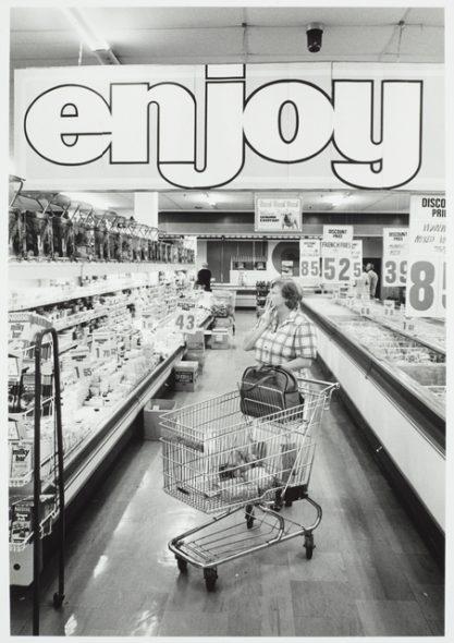 Supermarket, Devonport, Auckland, 1977, by John Daley. Gift of John Daley, 2012. © Te Papa (O.038942)