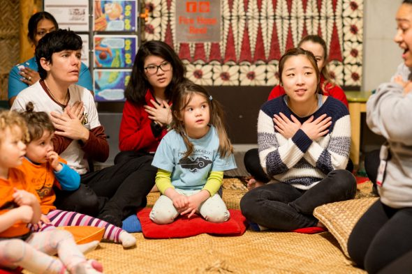 Singing a pure (blessing), Photographer: Michael Hall, © Te Papa