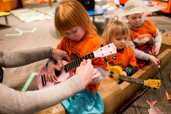 Making music with the ukelele, Photographer: Michael Hall, © Te Papa