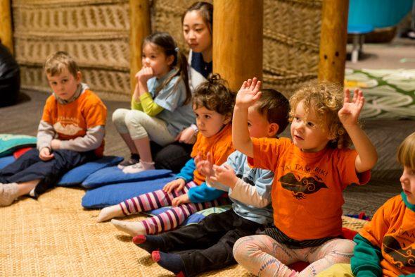 Singing songs in Cook Islands Māori, Photographer: Michael Hall, © Te Papa