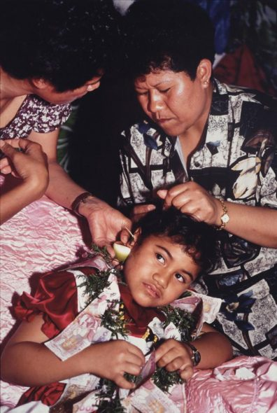 Untitled (Ear piercing ceremony Lakepa Village Niue), 1996, Niue, by Glenn Jowitt. Purchased 1999 with New Zealand Lottery Grants Board funds. Te Papa (O.027943)