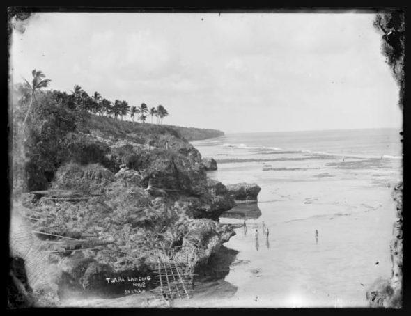 4.Tuapa Landing, Niue, 1886-1887, Niue, by Thomas Andrew. Te Papa (C.001516)