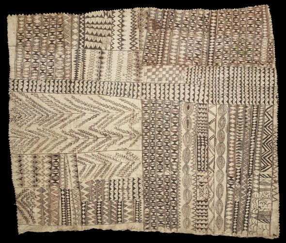 Hiapo (tapa cloth), 1800s, Niue, maker unknown. Augustus Hamilton Collection. Purchased 1914. Te Papa (FE000278)