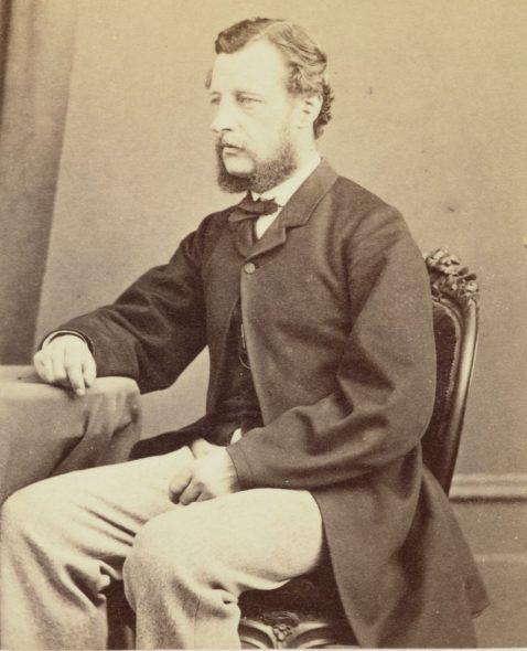 Dr James Hector, circa 1868, Wellington, by James Wrigglesworth. Purchased 1916. Te Papa (O.013163)