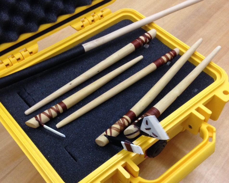 Moli- tattooing tools made by Sulu'ape Keone Nunes