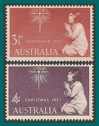 Australian-stamps-1957-Christmas-mint[2]
