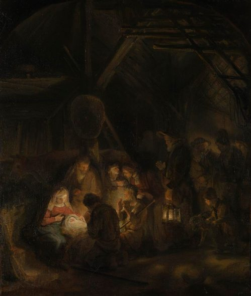Pupil of Rembrandt, 1606 - 1669 The Adoration of the Shepherds 1646 Oil on canvas, 65.5 x 55 cm Bought, 1824 NG47 http://www.nationalgallery.org.uk/paintings/NG47