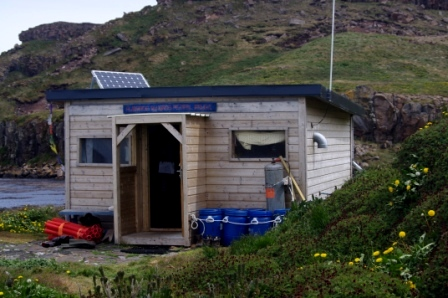 The hut on Ile Mayes. Image by Colin Miskelly, copyright IPEV/Te Papa
