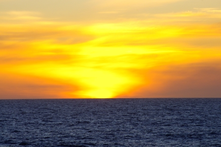 Empty ocean – sunset over the southern Indian Ocean. Image Colin Miskelly, copyright IPEV/Te Papa