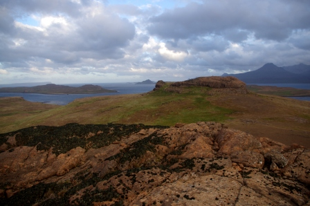 Summit of Ile aux Cochons, with Ile du Chat beyond. Image by Colin Miskelly, copyright IPEV/Te Papa