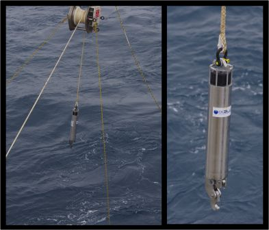 An acoustically-triggered release device (ARD) after recovery from the sea-floor. The ARD is attached by a short chain to a heavy dead-weight. When 'told' to let go, the ARD can be recovered by winching in the kilometres-long tether by which it is attached to the whale hydrophone and buoy (thereby keeping them anchored a kilometre below the surface for a year, but providing the means for their recovery). Images by Colin Miskelly, copyright IPEV/Te Papa