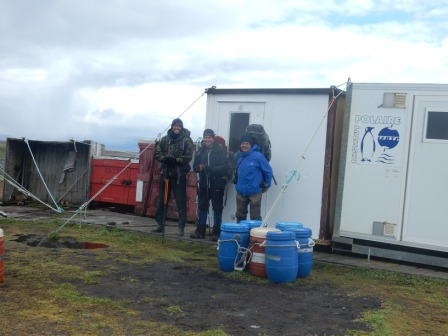 Team about to depart Cap Cotter. Image by Charly Bost, copyright IPEV