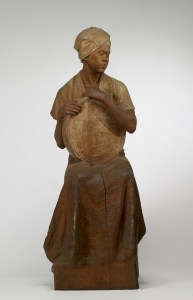 Arayori (A Peasant Woman), ca. 1915 by Yoshida Homei. wood with applied color. CC0. Courtesy of the Walters Art Museum