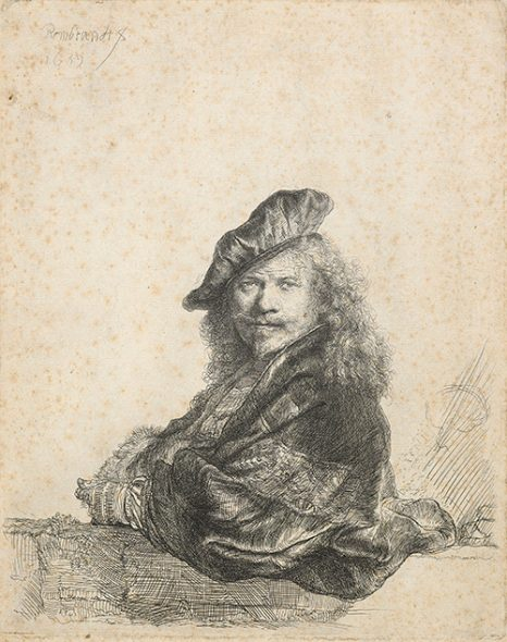 Self portrait by Rembrandt (a copy), 1922, by Roland Hipkins after Rembrandt, etching. Gift of Mr and Mrs R.J. Waghorn, 1983. Te Papa (1983-0007-18).